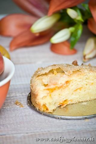 Torta all'albicocca, ricotta e vaniglia