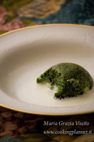 Sformatini di spinaci e scamorza affumicata