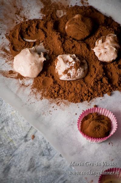 Truffle alle fragole e cioccolato bianco
