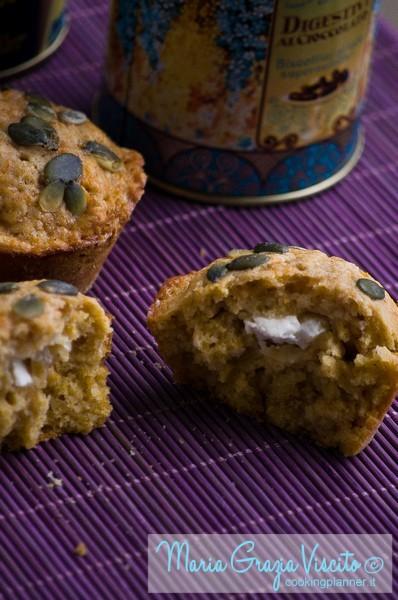 Muffin alla zucca  e cream cheese