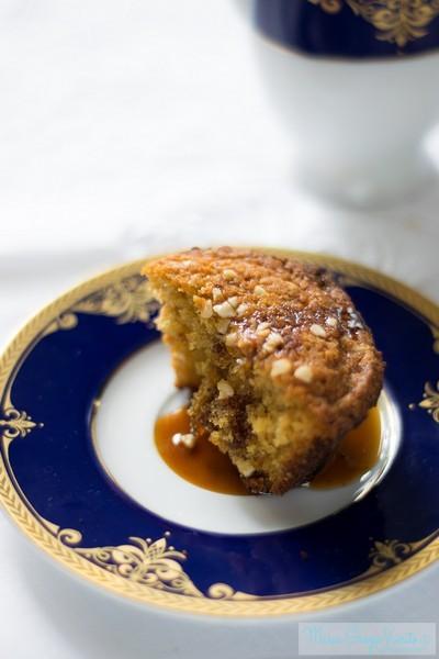 Muffin caffè, pepe e albicocca, con caramello al caffè