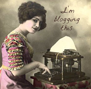 lady-blogging