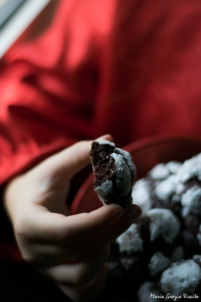 I chocolate crinkle cookies di Martha Stewart
